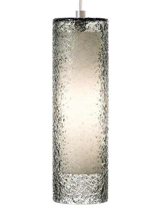 Rock Candy 1-Light Cylinder Pendant Finish: Satin Nickel, Shade Color: Smoke
