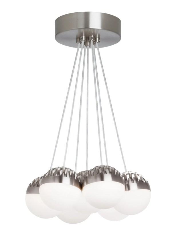 Sonntag 7-Light  LED  Pendant Shade Color: Cast Clear, Bulb Color Temperature: 2200K-3000K