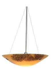 Veneto 3-Light Bowl Pendant Shade Color: Red, Finish: Bronze