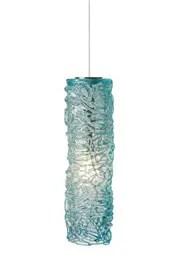 Macomber 1-Light Cylinder Pendant Finish: Satin Nickel, Shade Color: Aqua, Mounting Type: LED - Fusion Jack Pendant