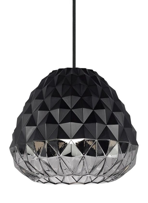 1-Light Geometric Pendant Shade Color: Black/Smoke