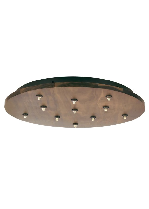 Fusion Jack Eleven Port Wood Round LED Canopy in Bronze Shade Color: Maple