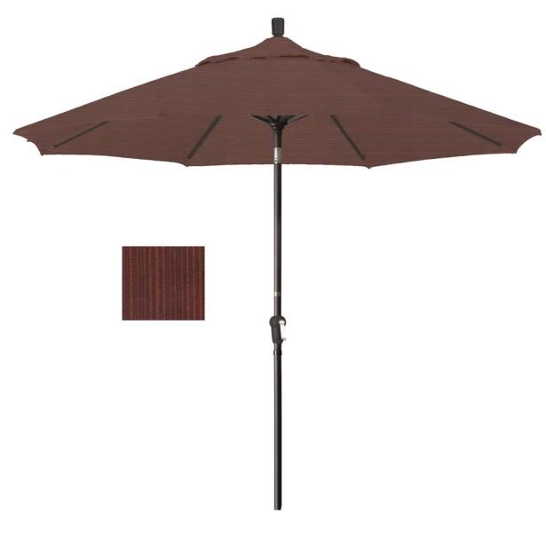 Mullaney 9' Market Umbrella Fabric: Terrace Adobe, Frame Color: Bronze