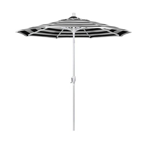 7.5' Market Umbrella Fabric Color: Classic, Frame Color: Matted White
