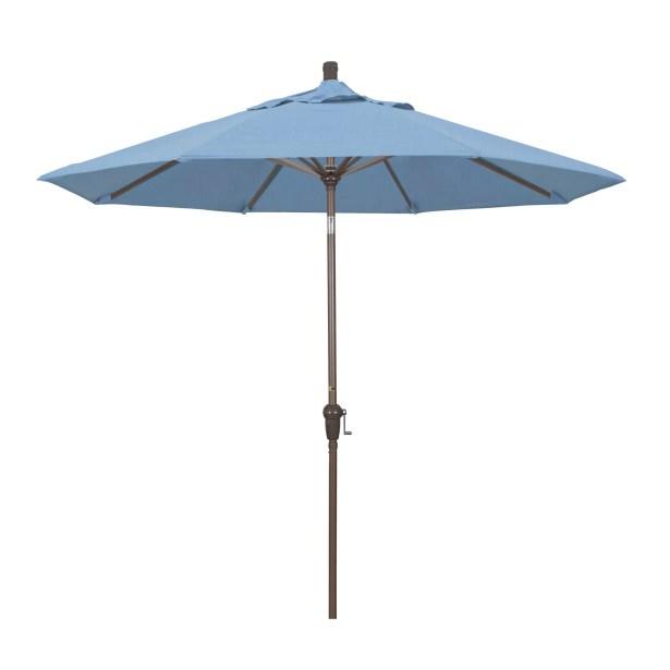 Mullaney 9' Market Umbrella Fabric: Pacifica Canvas, Frame Color: Champagne