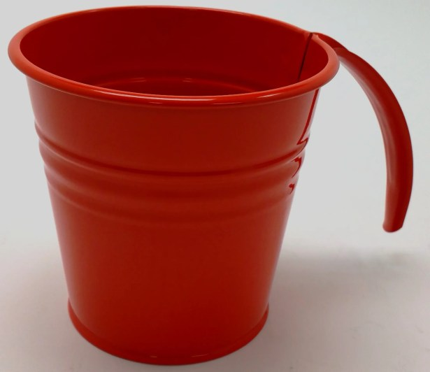 Kinnison Enameled Galvanized Scoop Color: Red