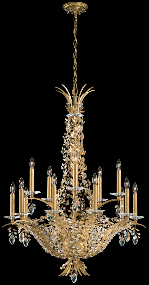 Amytis 15-Light Chandelier Crystal Type: Swarovski Elements Clear, Finish: Antique Silver