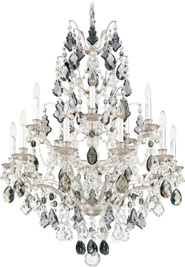 Bordeaux 15-Light Chandelier Crystal Color: Legacy Collection Crystal Clear, Finish: Heirloom Gold