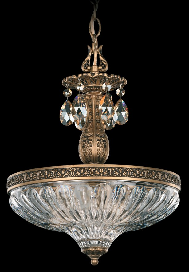 Milano 3-Light Bowl Pendant Finish: French Gold, Crystal Type: Optic Handcut Clear