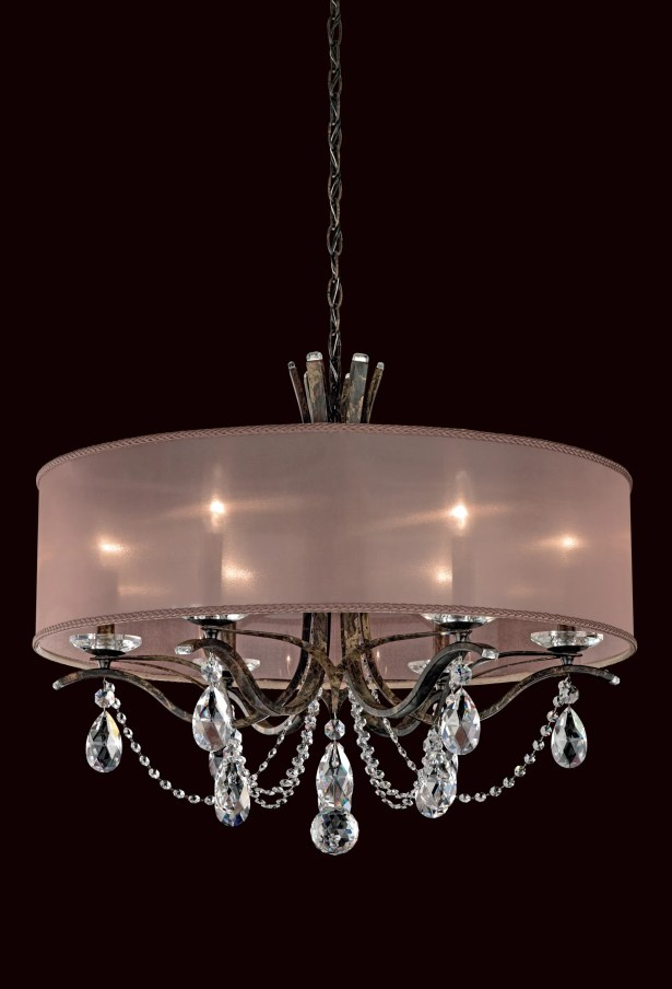 Vesca 6-Light Chandelier Finish: Antique Silver, Crystal: Clear Spectra