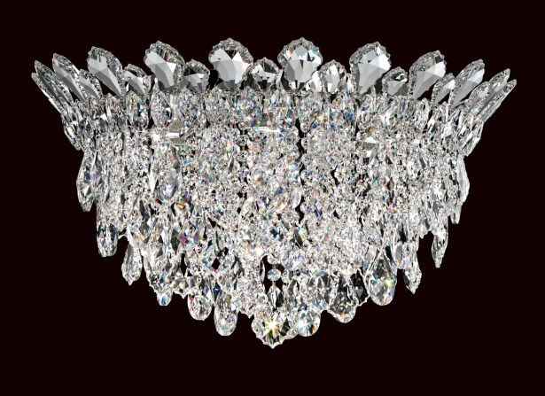 Trilliane Strands 6-Light Flush Mount Crystal Grade: Heritage Handcut