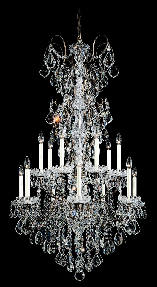 New Orleans 14-Light Chandelier Finish / Crystal Color: Etruscan Gold / Strass Clear