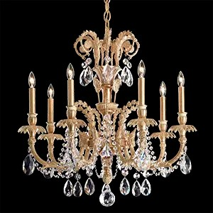 Genzano 7-Light Chandelier Finish: Aurelia, Crystal Type: Swarovski Elements Clear