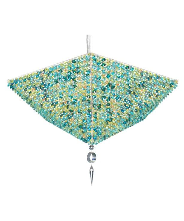 Vertex 10-Light Crystal Chandelier Crystal: Golden Teak