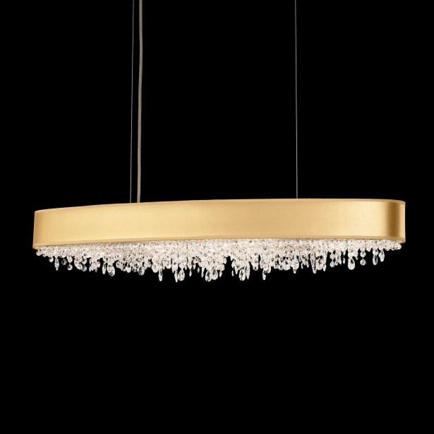 Eclyptix 10-Light Kitchen Island Pendant Shade Color: White, Crystal: Swarovski Clear Crystal