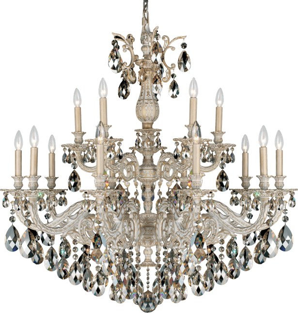 Milano 15-Light Chandelier Finish: Midnight Gild, Crystal Color: Strass Clear