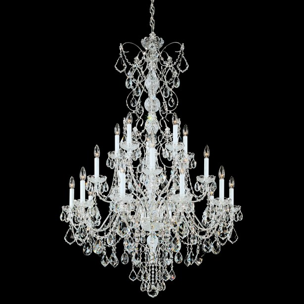 Century 20-Light Chandelier Finish: Antique Silver