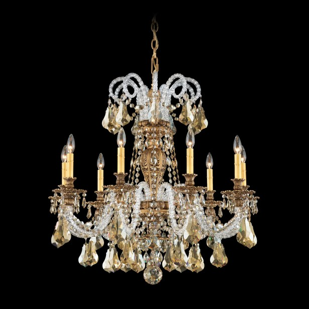 Isabelle 9-Light Chandelier Crystal Type: Optic Handcut Clear, Finish: French Gold
