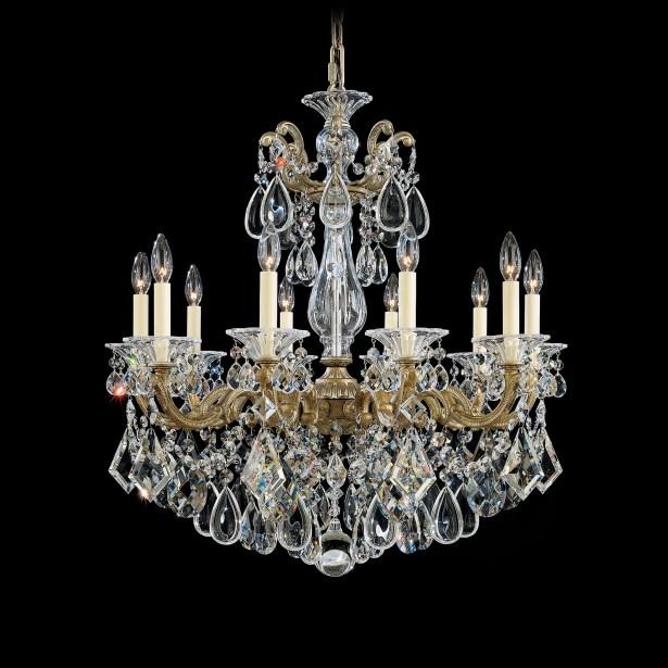 La Scala 10-Light Chandelier Finish / Crystal Color: Heirloom Gold / Spectra Crystal