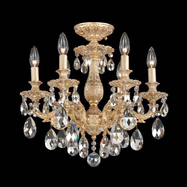 Milano 6-Light Chandelier Finish: Florentine Bronze, Crystal Grade: Strass Golden Shadow