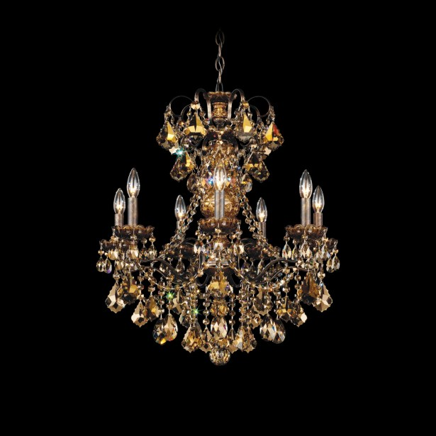 New Orleans 7-Light Chandelier Finish: Antique Silver, Crystal Type: Strass Clear