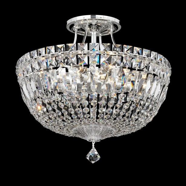 Petit 8-Light Semi Flush Mount Finish: Aurelia, Crystal Type: Gemcut Clear