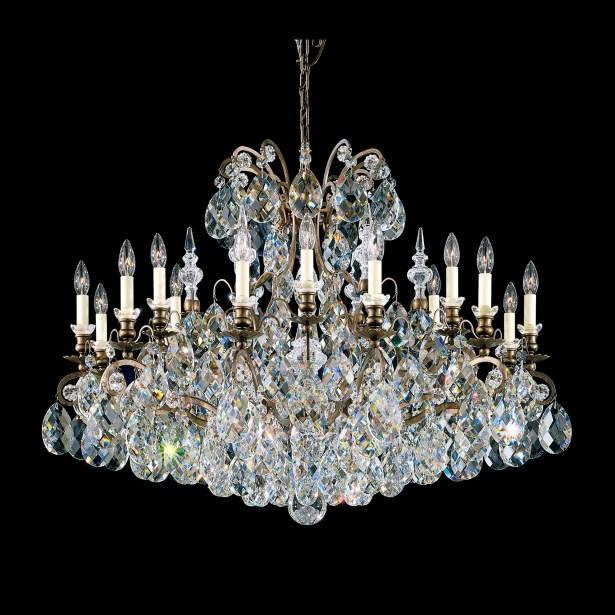 Renaissance 18-Light Chandelier Finish / Crystal Color: Heirloom Bronze / Handcut Clear