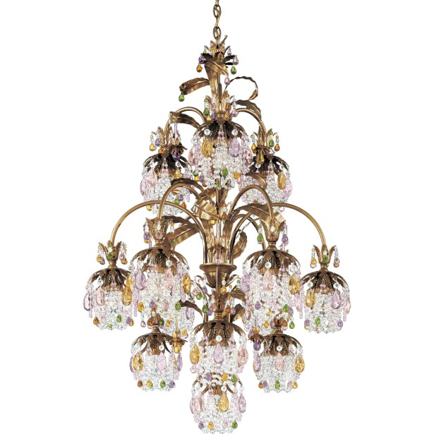 Rondelle 13-Light Shaded Chandelier Finish / Crystal Color: Heirloom Bronze / Smoke