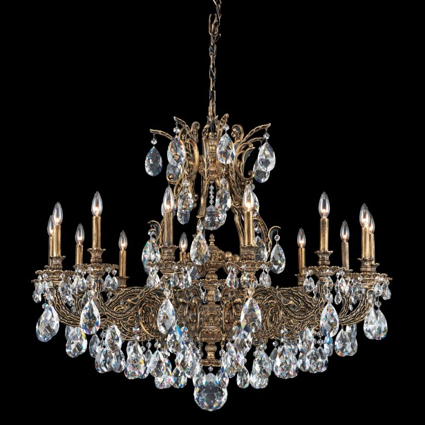Sophia 14-Light Chandelier Finish: Parchment Gold, Crystal Color: Optic Clear