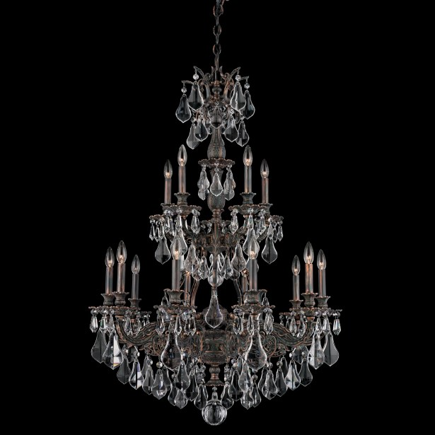 Sophia 15-Light Chandelier Finish: French Gold, Crystal Color: Strass Golden Shadow