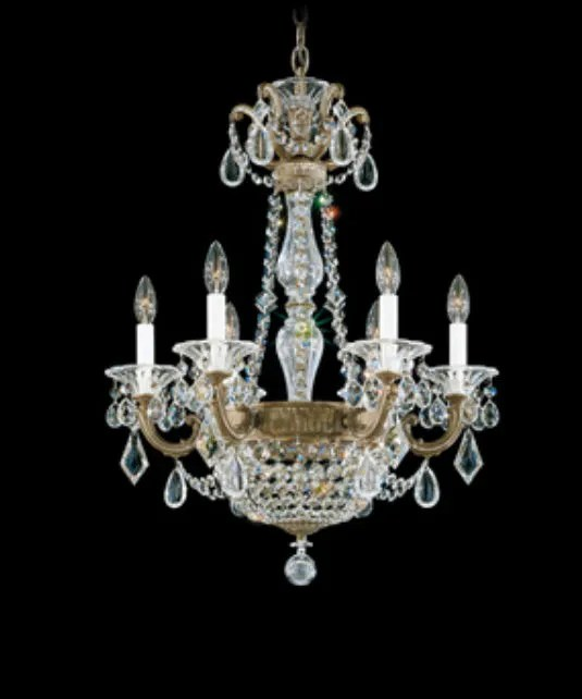 La Scala Empire 6-Light Chandelier Finish / Crystal Color: Etruscan Gold / Strass Clear