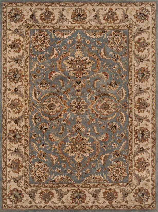 Meadow View Hand-Tufted Wool Blue/Beige Area Rug Rug Size: Rectangle 9' x 12'