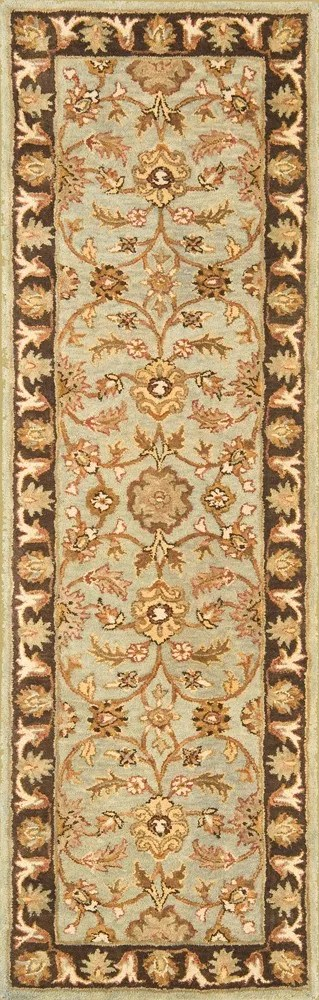Meadow Breeze Light Spruce/Brown Rug Rug Size: Runner 2'6