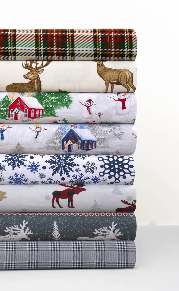 170-GSM Printed Flannel Extra Deep Pocket 100% Cotton Sheet Set Size: King