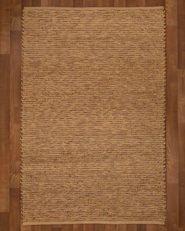 Amsterdam Hand-Woven Brown Area Rug Rug Size: Rectangle 8' x 10'
