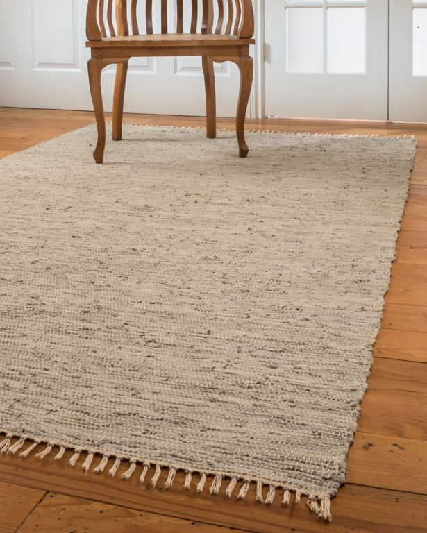 Limassol Leather Hand-Woven Gray Area Rug Rug Size: Rectangle 5' x 8'