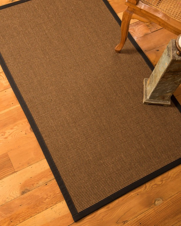 Riley Hand-Woven Brown Area Rug Rug Size: Rectangle 6' x 9'