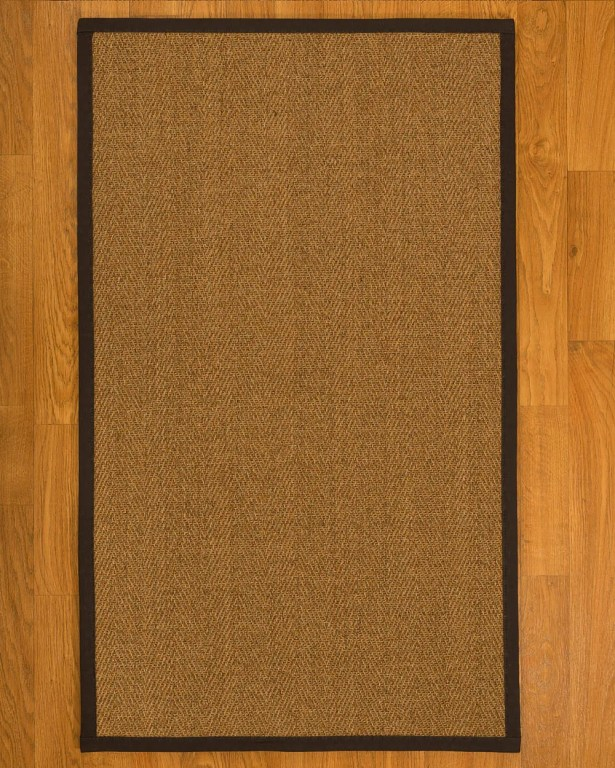 Asmund Border Hand-Woven Brown/Onyx Area Rug Rug Size: Rectangle 9' x 12', Rug Pad Included: Yes