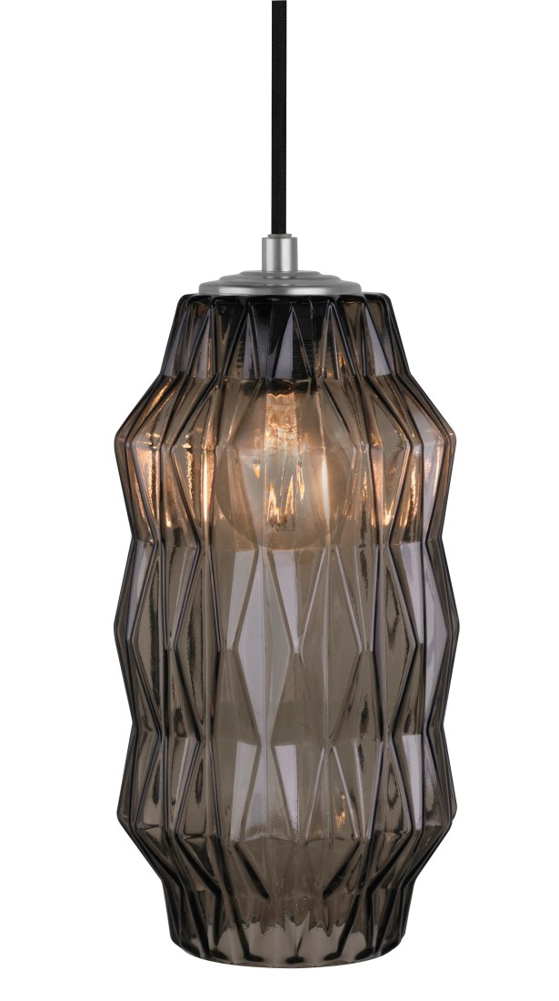 Mimo Faceted 1-Light Geometric Pendant Shade Color: Bronze