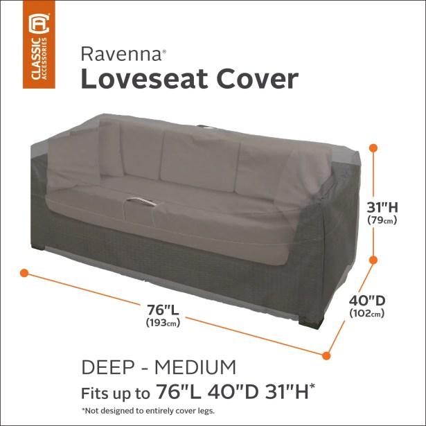 Love Seat Cover Size: Medium