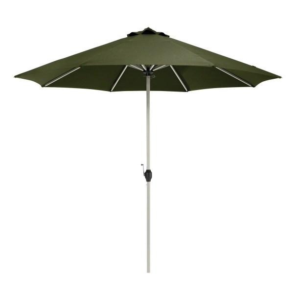 Gunn Fadesafe? 9' Market Umbrella Fabric: Heather Fern Green