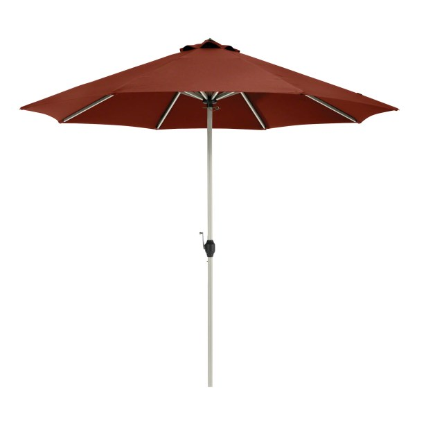 Gunn Fadesafe? 9' Market Umbrella Fabric: Heather Henna Red