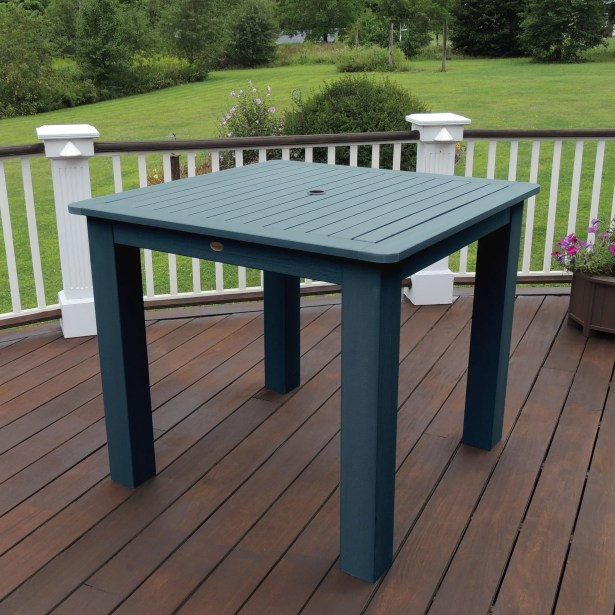 Thiago Plastic Dining Table Color: Nantucket Blue
