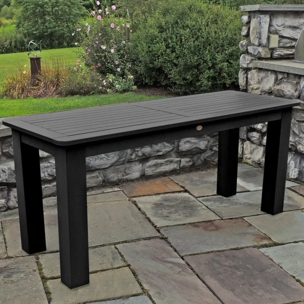 Draves Plastic Dining Table Finish: Black