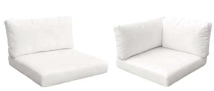white lounge chair cushions folding nepal furniture monaco outdoor 10 piece cushion set