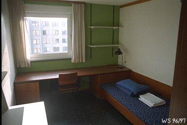 Mbliertes Zimmer in Studentenwohnheim  WG Zimmer in