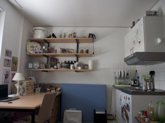 zentrales Zimmer im Wohnheim Binger Schlag  1Zimmer