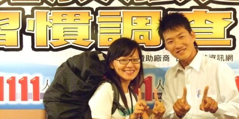流浪、背包、貧窮背包客-TOBY~1111人力銀行新聞現場2007/9/21