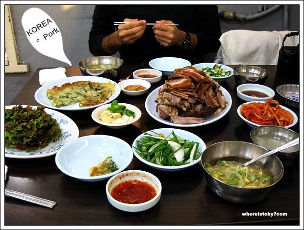 首爾。好大一盤韓國豬腳