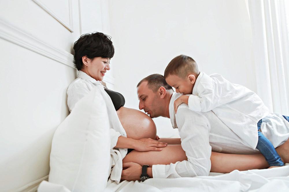 |孕照分享|-古龍一家。二寶妹的孕期照